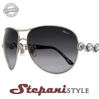 chopard sunglasses sch803s 0579 silver black 803