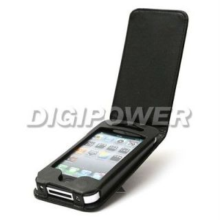 Newly listed BLACK LEATHER FLIP CASE COVER SKIN FOR IPHONE 4 4G 4S