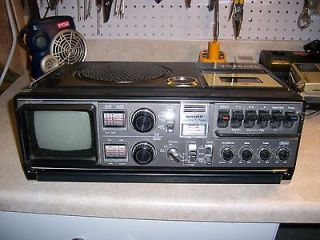 Sharp 3T 59 Stereo Tri Mate AM/FM Radio Cassette Corder TV Boombox