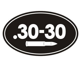 30 30 Oval Ammo Can 30 30 Cal Bullet Hunting Rifle Vinyl Sticker