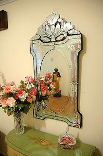 47 x 24 clear venetian art deco mirror wall decor