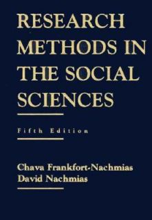 Research Methods in the Social Sciences by Chava Nachmias 1995