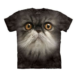 THE MOUNTAIN FURRY FACE SIZE XL CUTE KITTY CAT KITTEN WHISKERS PET T