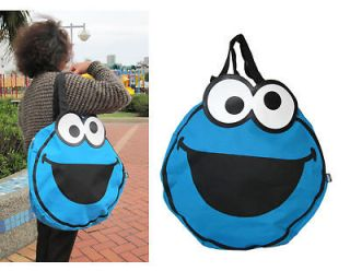 sesame street shoulder bag large cookie monster bag from taiwan