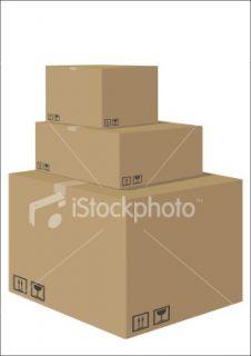 cardboard boxes Royalty Free Stock Vector Art Illustration