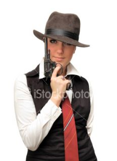 stock photo 5918879 beautiful girl with gun