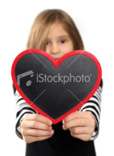 stock photo 18916475 little girl with heart