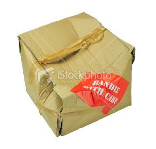 stock photo 11402708 damaged cardboard box