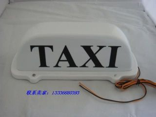 New TAXI CAB ROOF TOP ILLUMINATED SIGN WHITE LIGHT Magnetic