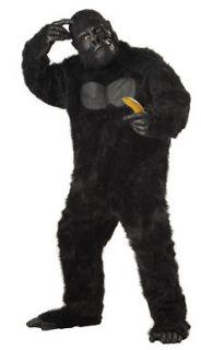 black gorilla monkey ape adult halloween costume