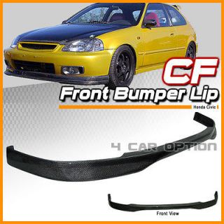 96 98 HONDA CIVIC EK EK9 JDM FRONT LIP T R + CARBON FIBER SHEET 30