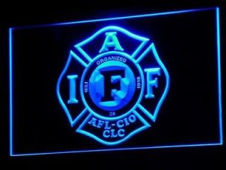 Newly listed b255 b Fire Rescue IAFF FireFighters NR Neon Light Sign