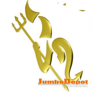 Golden Devil Decal Trunk Hood Tail Gate Door Logo Emblem Badge Sticker