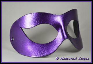 Arkham Asylum Harley Quinn Black & Purple Leather Mask Batman Super