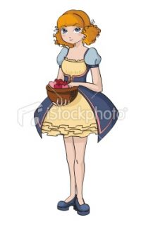 Girl with hearts Royalty Free Stock Vector Art Illustration