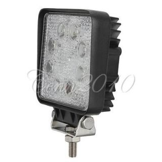 24W 8 LED Spot work Lamp Light Offroad Jeep Trailer SUV ATV Boat Truck