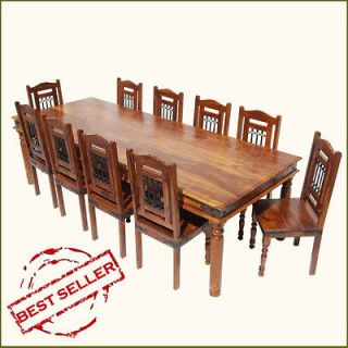 Newly listed 11pc Large Family Dining Table & Chairs Set for 10 Big