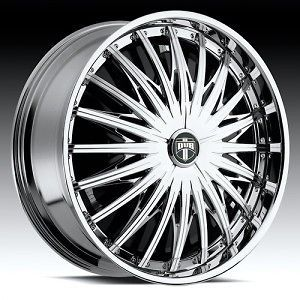 26 DUB SPIN Karma Wheel SET 26x10 Chrome Spinner Rims For RWD 5 & 6