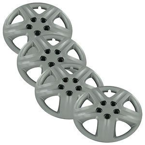 Set of 4 New 17 Silver Hubcaps Center Hub Caps Wheel Rim Covers Free