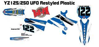 2002 2012 yz125 yz250 ufo restyled custom graphics kit time