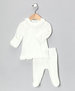 NWT Mud Pie Ivory Velour Angel Wing 2 Pc Set Newborn 0 3 Months Girls