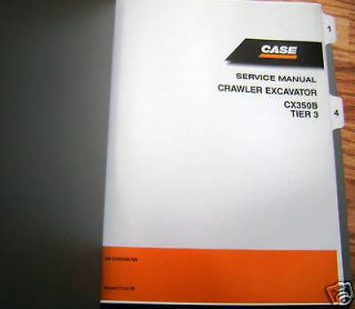 new case cx350b crawler excavator service repair manual time left