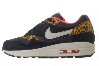 Nike Wmns Air Max 1 Black Leopard Animal Womens Running Shoes Atmos