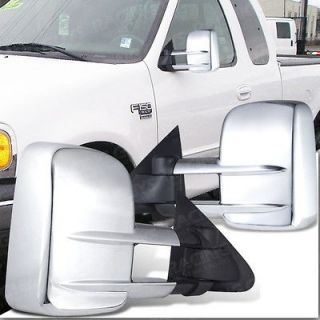 97 03 FORD F150 LIGHT DUTY PICKUP TRUCK TOWING MIRRORS CHROME NEW PAIR