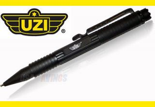 Tactical Defense Pen Gun Metal UZI TACPEN1 BK DNA Catching Crown BLACK