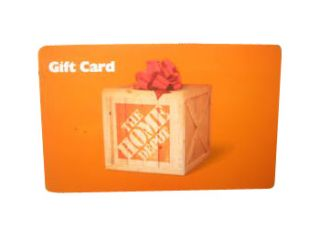 newly listed home depot gift card $ 188 08 time