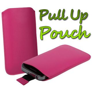 LEATHER PULL UP SLEEVE CASE COVER POUCH FOR NOKIA ASHA 200 / 201 PHONE