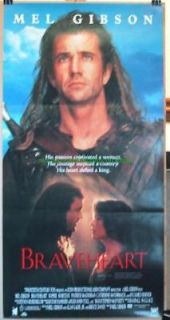 braveheart movie poster mel gibson original time left $ 18