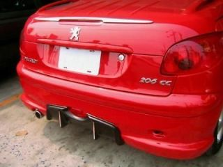 peugeot 206 cc 206cc chrome rear trunk spoiler wing time