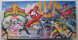MIGHTY MORPHIN POWER RANGERS Board Game 1993 Milton Bradley