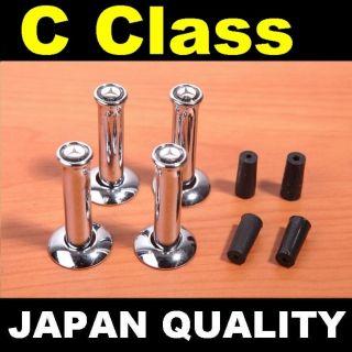 x4 CHROME DOOR PINS Mercedes Benz Black Logo C Class W201 W202 W203