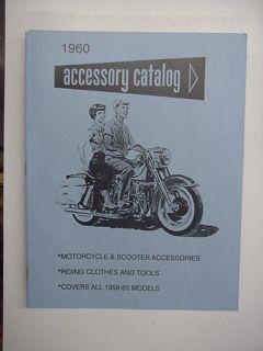 1964 HARLEY DAVIDSON MOTORCYCLE ACCESSORY BOOK CATALOG PANHEAD DUO