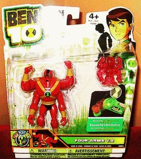 2011 Ben 10 New FOUR ARMS V.2 4 inch Action Figure NEW Red w/ Mini