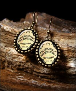 Ouija Board Halloween Vintage Horror Antique Bronze Dangle Earrings