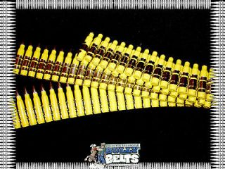 BULLET BELT .223 Caliber Nickel Tip, Yellow Powder Coated Shell