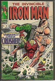 IRON MAN Invincible Vol. 1 # 6 Marvel Comics Avengers Stan Lee 1968