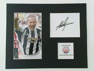 Limited Edition Alan Shearer Football Signed Mount Display NEWCASTLE