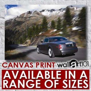Rolls Royce Phantom   Silver (1) High Quality Framed Canvas Art