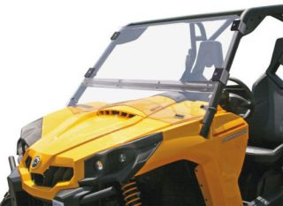 CAN AM COMMANDER 800 1000 FRONT FULL FOLDING HARD WINDSHIELD