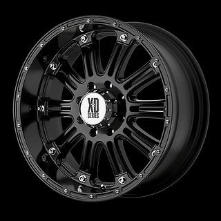 HOSS GLOSS BLACK MACHINED W/ 285/50/20 SUNNY SN3980 TIRES WHEELS RIMS