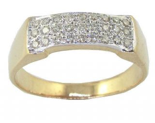 Mens Engagement Ring Wedding Band 0.40 Ctw Round Diamond Yellow Gold