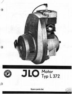 Polaris Snowmobile 744cc Engine Parts Manual Vintage