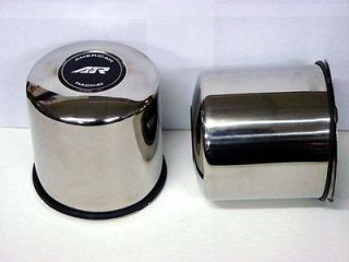 AMERICAN RACING WHEEL CENTER CAPS STAINLESS ST 6 LUG 5X5.5 4.25 BORE