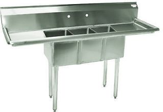 commercial stainless steel sink in Cleaning & Warewashing
