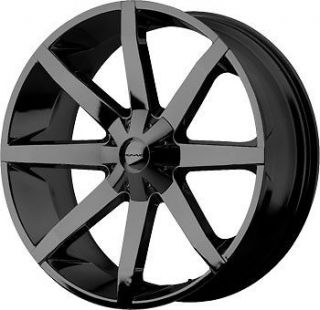 24 inch kmc slide gloss black wheels rims 5x115 300c charger