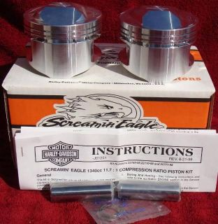 harley screamin eagle forged pistons 11 7 1 ratio race